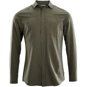 Aclima Woven Wool Shirt Men ranger green